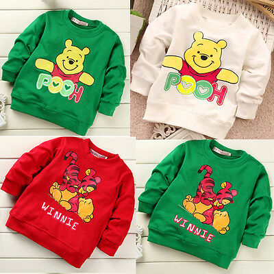 Infant Baby Girls Boys Toddler Weenie the Pooh Summer T-shirt Tops Shirts Tees
