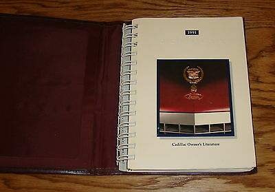 Original 1991 Cadillac DeVille Owners Operators Manual 91 w/Leather Case