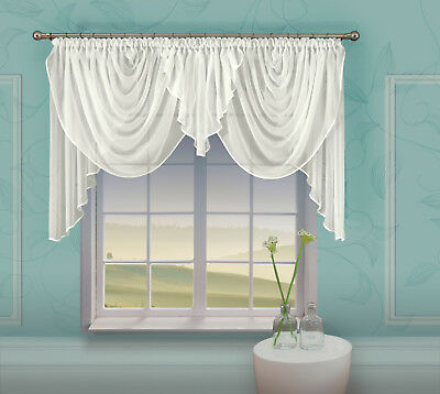 Beautiful Crinkle  Cream Voile Net  Curtain  Home Window Decorations Ready Made