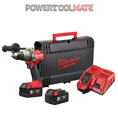Milwaukee M18FPD-502X 18v Li-Ion M18 Fuel Percussion Drill - 2x 5.0Ah Batteries