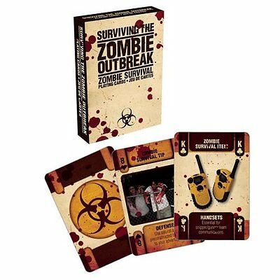 Surviving The Zombie Outbreak set of 52 playing cards (nm)