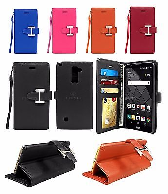 buy popular cd8b2 84637 FOR LG G Stylo 2 / LS775 / Stylus 2 Leather Wallet Case w/ Card Holder &  Strap