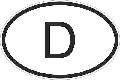 OVAL sticker flag country code bumper decal car laptop germany german D