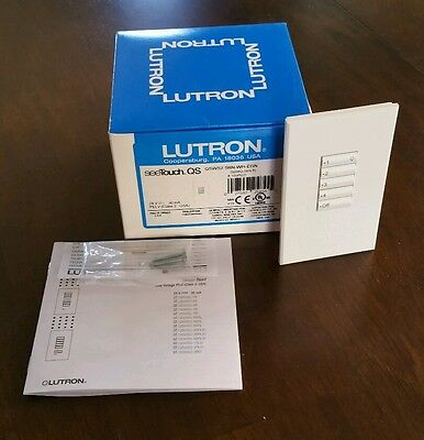 *NEW IN BOX* LUTRON SeeTouch QS QSWS2-5BN-WH-EGN 5 Button Wall Station FREE SHIP