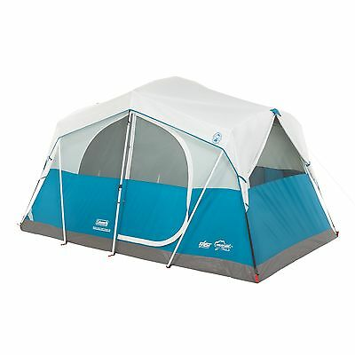 Coleman Echo Lake 6 Person Fast Pitch Cabin Tent w/ 2' x 2' Cabinet   12' x 7'