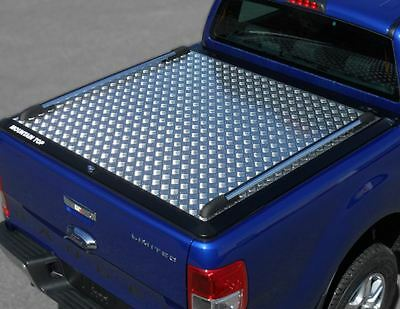 Ford Ranger 2016  NLG* Tonneau cover Double Cab Alloy Chequer Plate Bed Cover