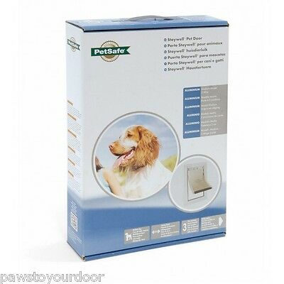 Staywell Petsafe 620 Medium Dog Door 2 way Aluminium White Cat Flap 620ML Pet