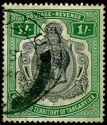 TANGANYIKA SG102, 1s green, USED, CDS.
