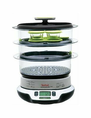 NEW Tefal Vita Cuisine Compact Steamer VS4003 Black