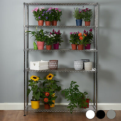 5 Tier Metal Storage Rack/shelving Book Shelf Kitchen/office Display Unit 180Cm