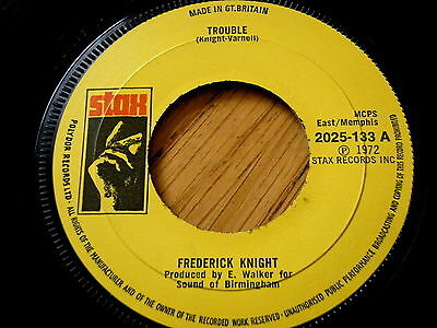 "Frederick Knight - Trouble  7"" Vinyl"