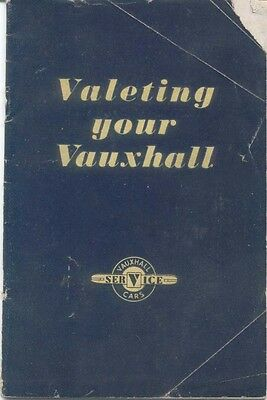 Valeting your Vauxhall V 927/5 August 1950