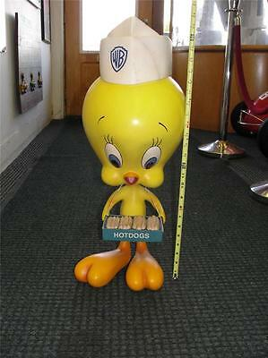 1990S Warner Brothers Store Display Tweety Bird Hot Dog Vender Lifesize Statue