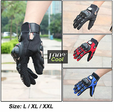 Pro Carbon Fiber Bike Motorcycle Motorbike Racing Protective Gloves Full