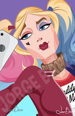 Animated SUICIDE SQUAD HARLEY QUINN HAND SIGNED Jorge Baeza Margot Robbie