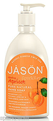 Jason Organic Glowing APRICOT Liquid Hand Soap 473ml Vitamin E & Panthenol