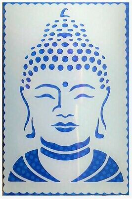 Flexible Stencil *BUDDHA FACE* Embossing Pricking Card Making - 9.5 x 14.5cm