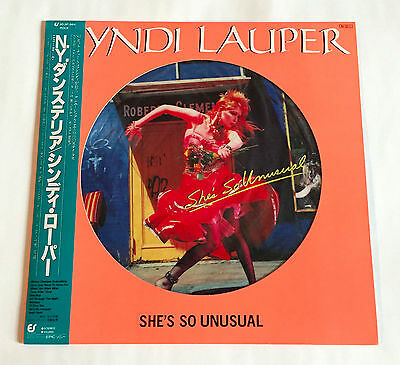 CYNDI LAUPER She's So Unusual JAPAN VINYL PICTURE LP 30.3P-564 w/OBI