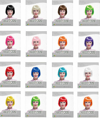 Ladies - Girls Short BOB Full Head Wig /Costume Party Fancy Dress