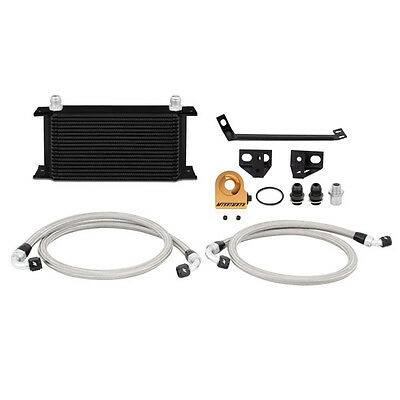 Mishimoto Thermostatic Oil Cooler Kit - Black - Ford Mustang 2.3 EcoBoost 2015-