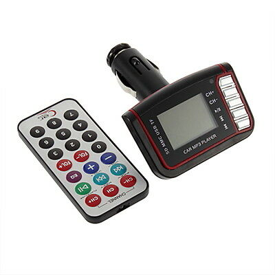 LCD Car MP3 Player Wireless FM Transmitter USB TF Card + Remote Control FE