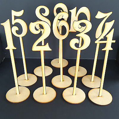 Wooden Freestanding Table Stand Numbers  Balloon  - Wedding - Craft MDF Decor