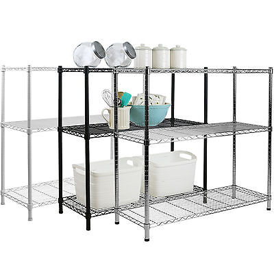 3 Tier Metal Storage Rack/shelving Book Shelf Kitchen/office Display Unit 90Cm