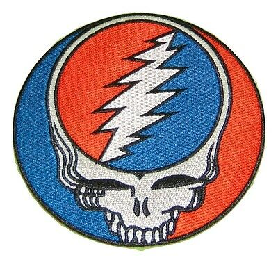 5 Inch Grateful Dead Syf Patch Embroidered Glue On New