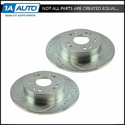 Nakamoto Performance Disc Brake Rotor Drilled & Slotted Rear Zinc Coated Pair