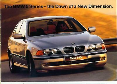 Bmw 5 Series (E39) Introductory Sales Brochure 1996