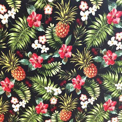 Pineapple Wrapping Paper Luxury Gift Wrap Gorgeous Quality Retro Tropical Fruit