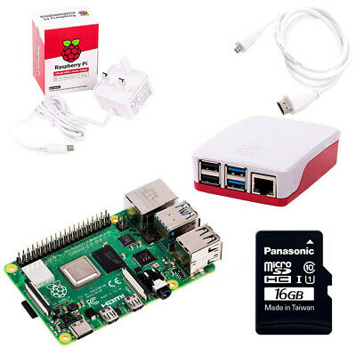Raspberry Pi 4 Starter Kit with 4GB RAM & 16GB MicroSD (2019 Model)