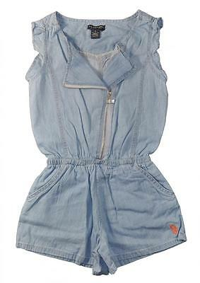 US Polo Assn Big Girls Asymmetrical Zip Front Romper Size 7 8 10 12 $42
