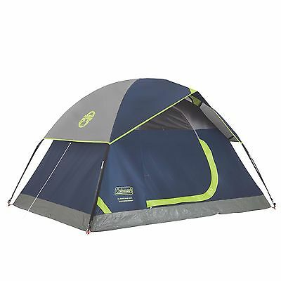 Coleman Sundome 2 Person Outdoor Hiking Camping Tent w/ Rainfly Awning | 7' x 5'