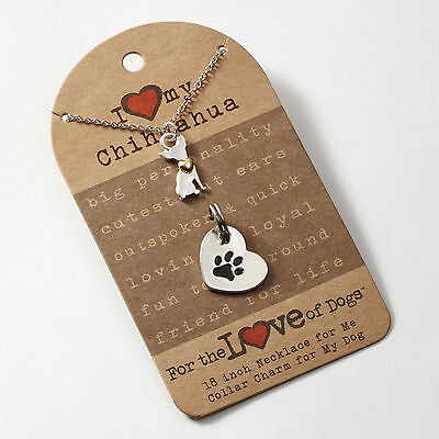 ✜ FOR THE LOVE OF PAWS Necklace and Pet Charm Set Chihuahua