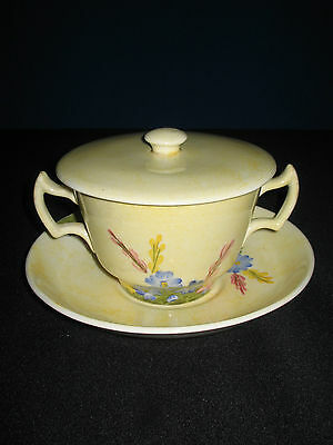Rare Susie Cooper Breakfast Bowl, Saucer and Lid