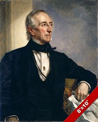 John Tyler Us President Portrait American History Painting Art Real Canvas Print