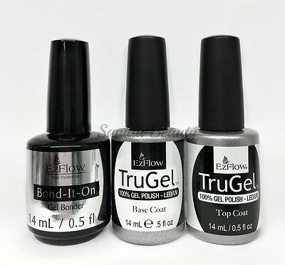 EZFlow TruGel - 100% Gel LED UV Nail Polish 0.5oz- Choose any Bond/Base/ Top