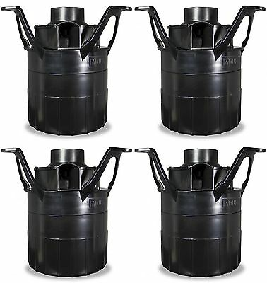 4 Moultrie 360° Programmable Feeder Fish FeedCaster Kits w/ Hardware | MFHP12431