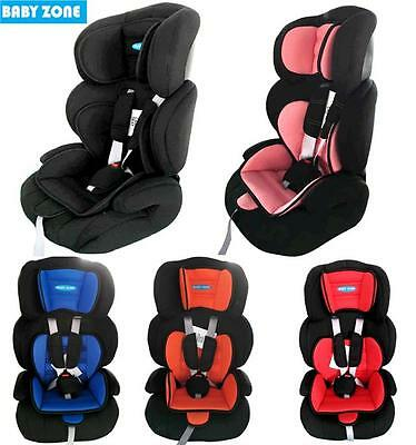 Baby Zone 3 In 1 Child Baby Car Seat Safety Booster For Group 1/2/3 9Kg To 36Kg