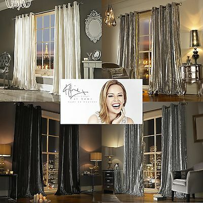 Iliana Lined Eyelet Curtains by Kylie Minogue At Home ... Sumptuous Velvet