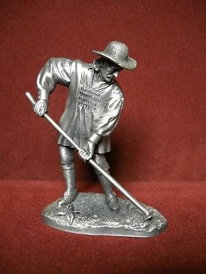 "Franklin Mint Fine Pewter ""The Planter"" 1974"