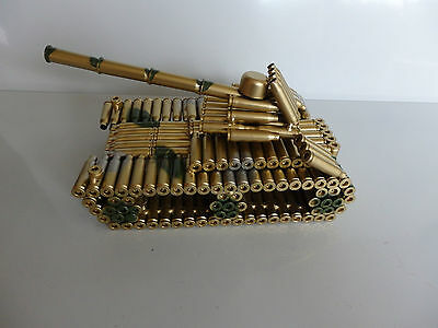 handcrafted army tank model  bullet casing model spent cartridges novelty