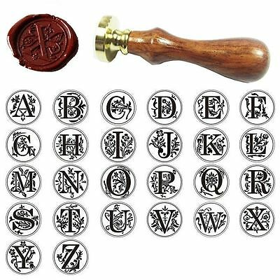 Vintage Alphabet Initial Sealing Wax Seal Stamp Invitations Gift - Letter A-Z