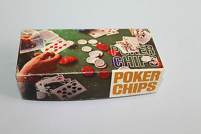 Vtg Tag Cardboard Poker Chips