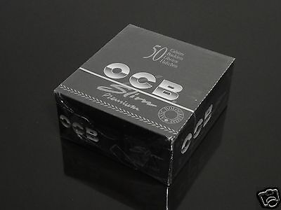 1 Box 50 Booklets OCB 110mm PREMIUM SLIM Rolling Papers King Size #1076