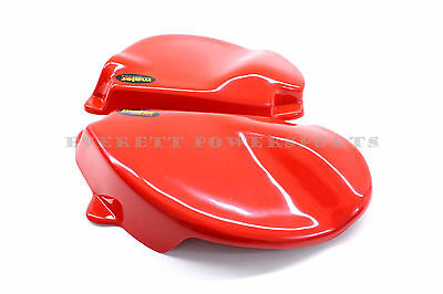 New Red Side Panel Number Plates Honda 77-78 XR75, 79-82 XR80 Frame Covers #H80