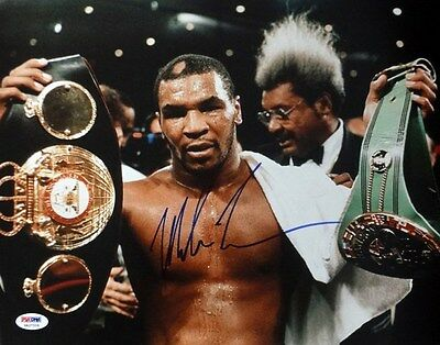 Mike Tyson Autographed Signed 11X14 Photo Psa/dna Stock #87210