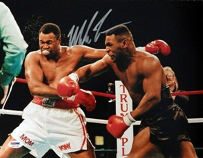 Mike Tyson Autographed Signed 11X14 Photo Psa/dna Stock #87214