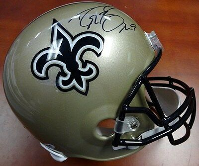 Drew Brees Autographed Signed New Orleans Saints Full Size Helmet Psa/dna